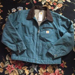 Women's Carhartt Canvas Jacket Coat Lined Medium